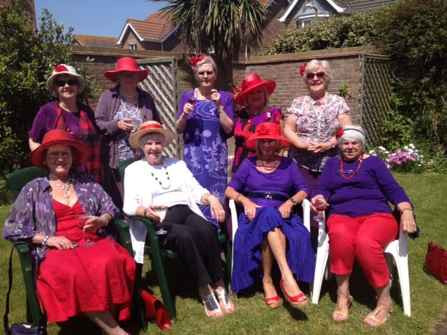 Enjoying the Sun after the Crab Lunch in Selsey.
